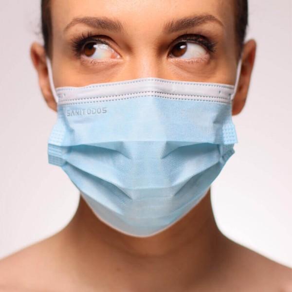 La siguiente fotografía nos muestra unacaja demascarillas verdes quirúrgicas sin grafeno empaquetadas en una caja de 50 unidades