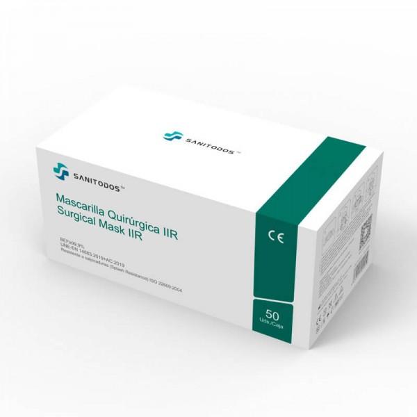 La siguiente fotografía nos muestra a una modelo portando una mascarilla amarilla de tipo quirúrgico IIR