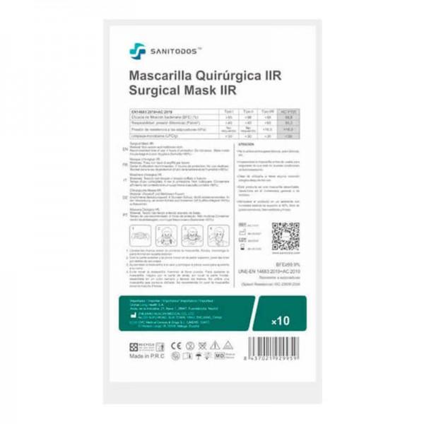 La siguiente fotografía muestra una caja de mascarillas quirúrgicas grises sin composición de grafeno